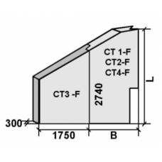 Откосное крыло СТ 1 - F (Блок № 57) левое и правое